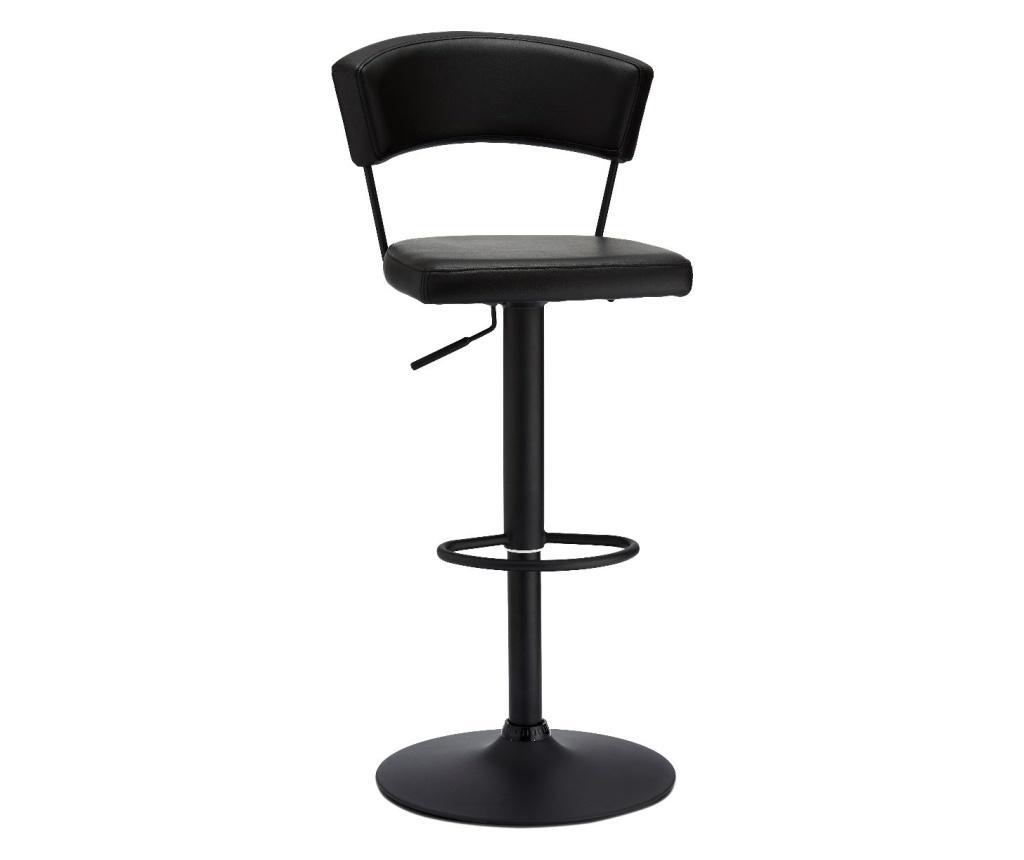 Set 2 scaune de bar Preben Black - Furnhouse, Negru