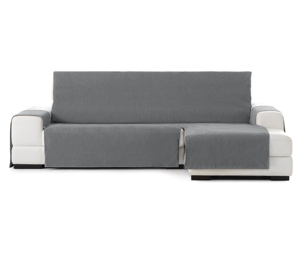 Husa sezlong living dreapta Chenille Grey 250-300 cm - Eysa, Gri & Argintiu