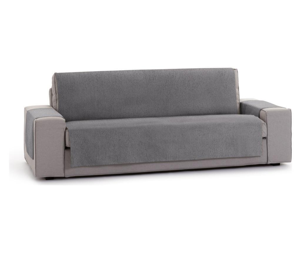 Husa Pentru Canapea Cu 3 Locuri Chenille Salva Grey 155x95x220 Cm - Eysa, Gri & Argintiu