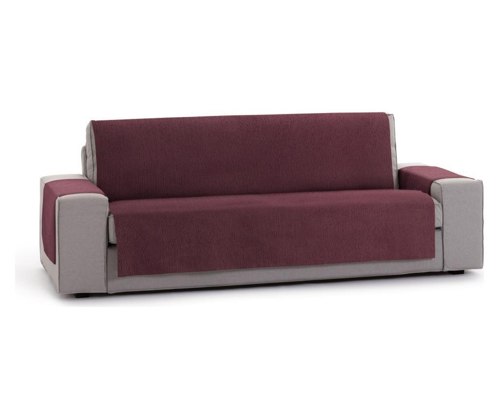 Husa pentru canapea cu 3 locuri Chenille Salva Bordo 170-210 cm - Eysa, Rosu