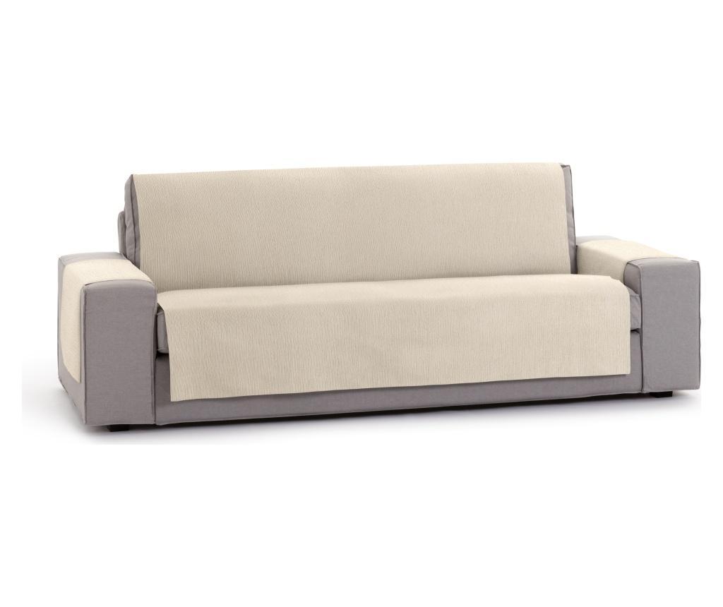 Husa pentru canapea cu 2 locuri Chenille Salva Cream 120-170 cm - Eysa, Crem