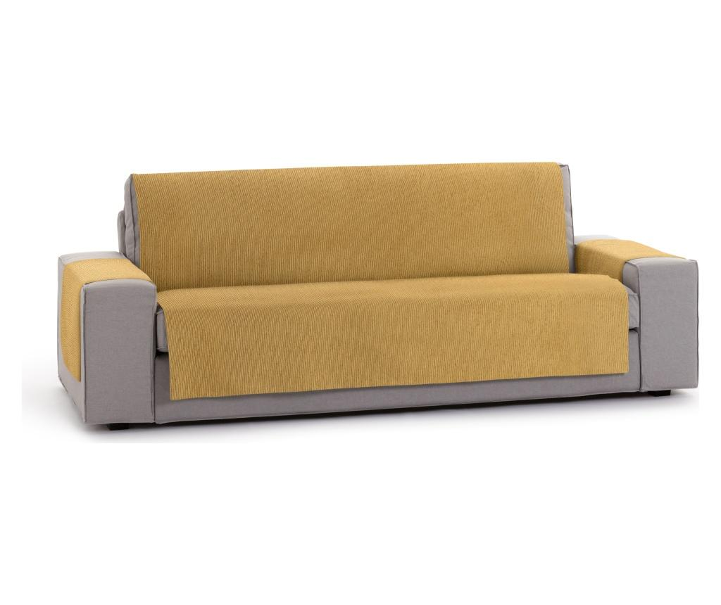 Husa pentru canapea cu 4 locuri Chenille Salva Mustard 210-250 cm - Eysa, Galben & Auriu