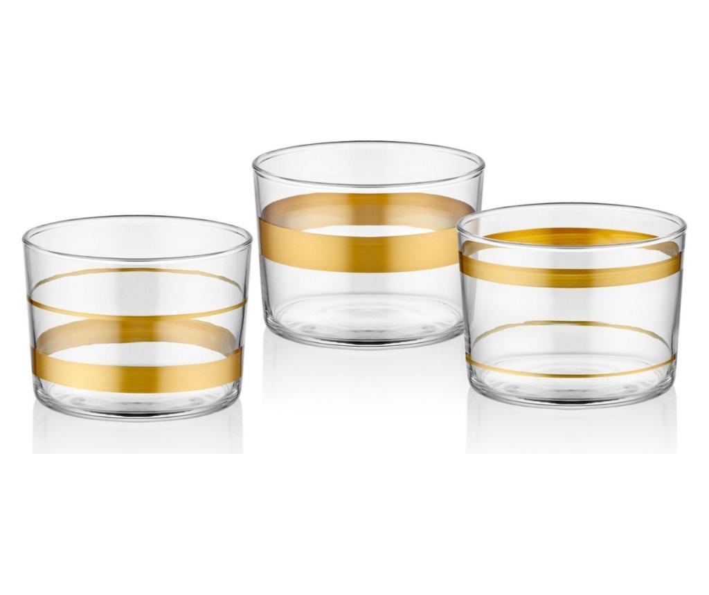 Set 3 boluri pentru aperitive - Mia, Galben & Auriu