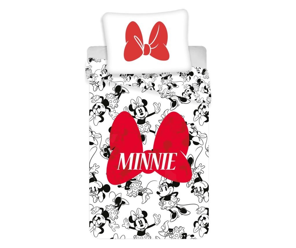 Set de pat Single Ranforce Minnie - Minnie Mouse by Disney, Multicolor