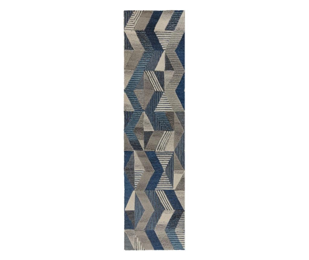 Covor Asher 60x230 Cm - Flair Rugs, Albastru