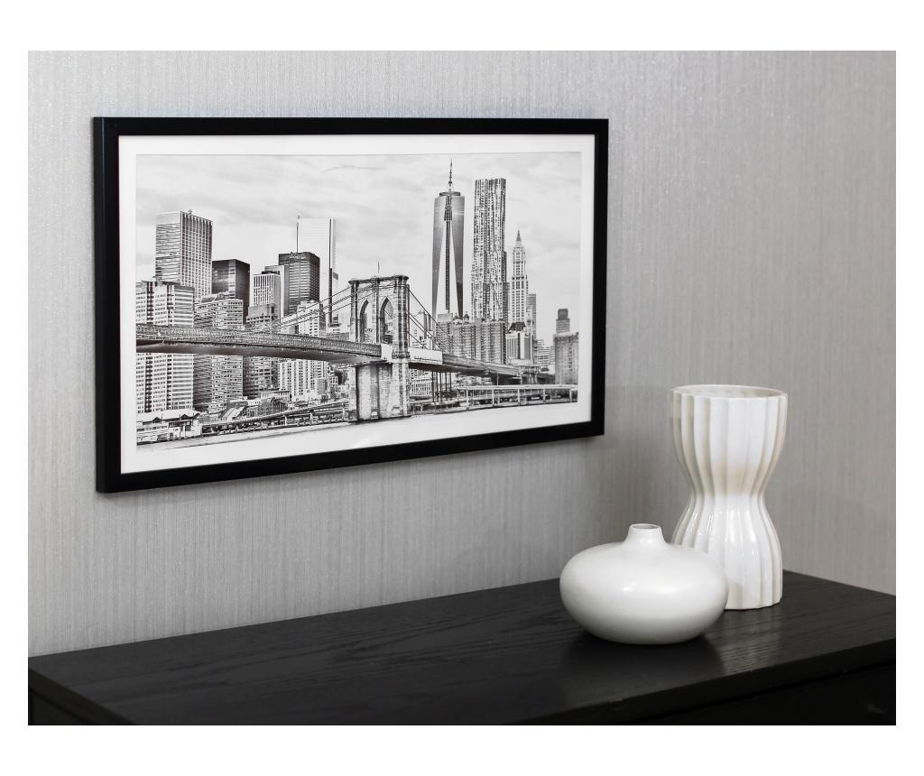 Tablou City Drawn 40x70 cm - Arthouse, Gri & Argintiu