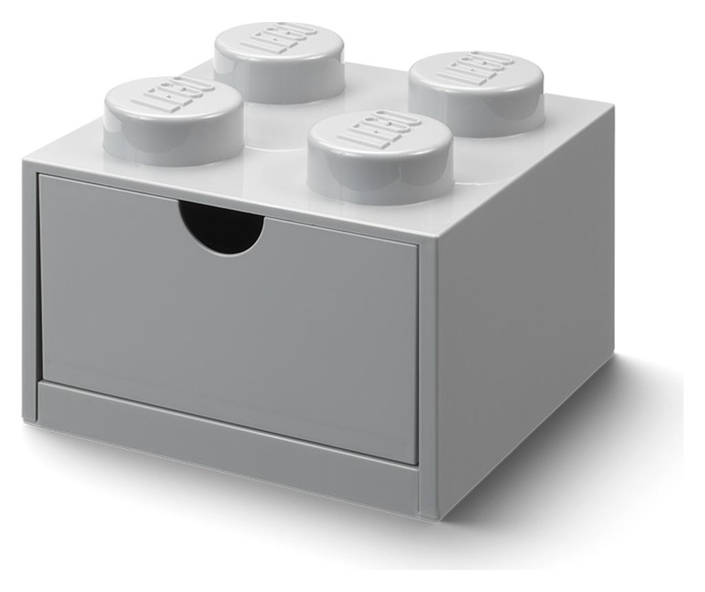 Organizator pentru birou LEGO Square Grey - LEGO Storage, Gri & Argintiu