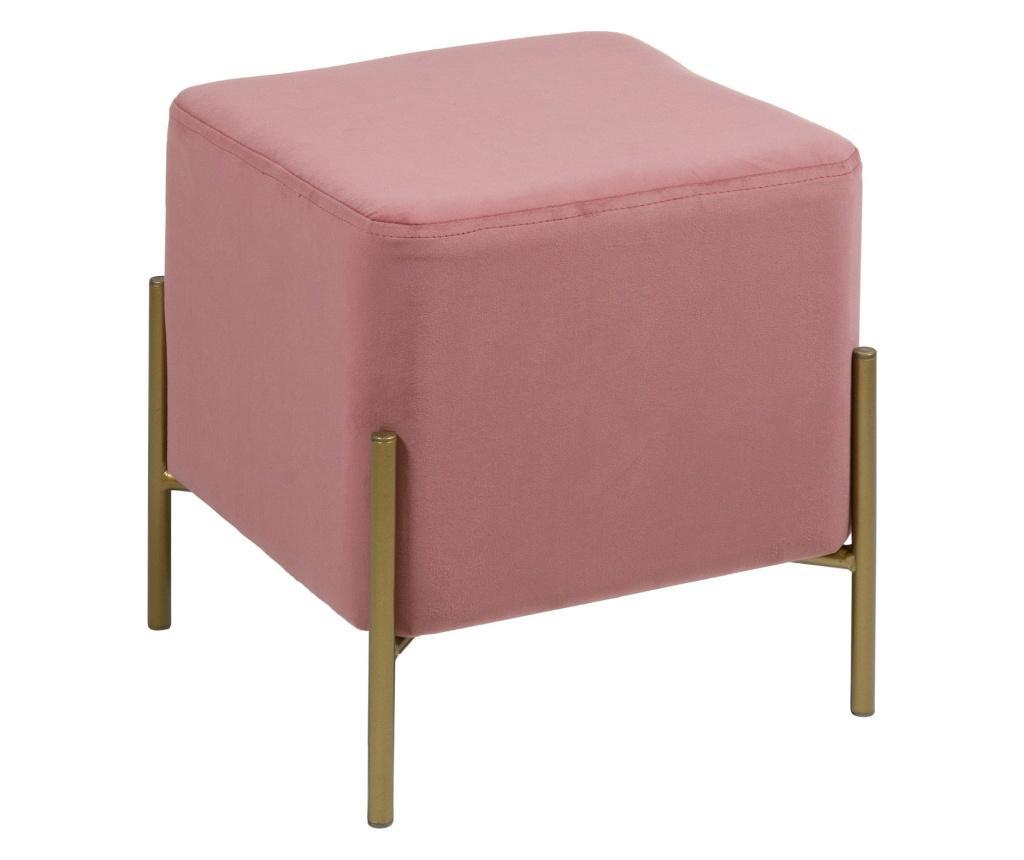 Taburet Pink Gold Cube - Santiago Pons, Roz