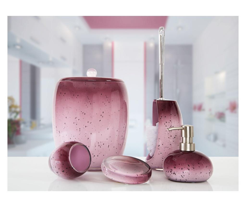 Set accesorii de baie 5 piese Stria Purple - Irya, Mov