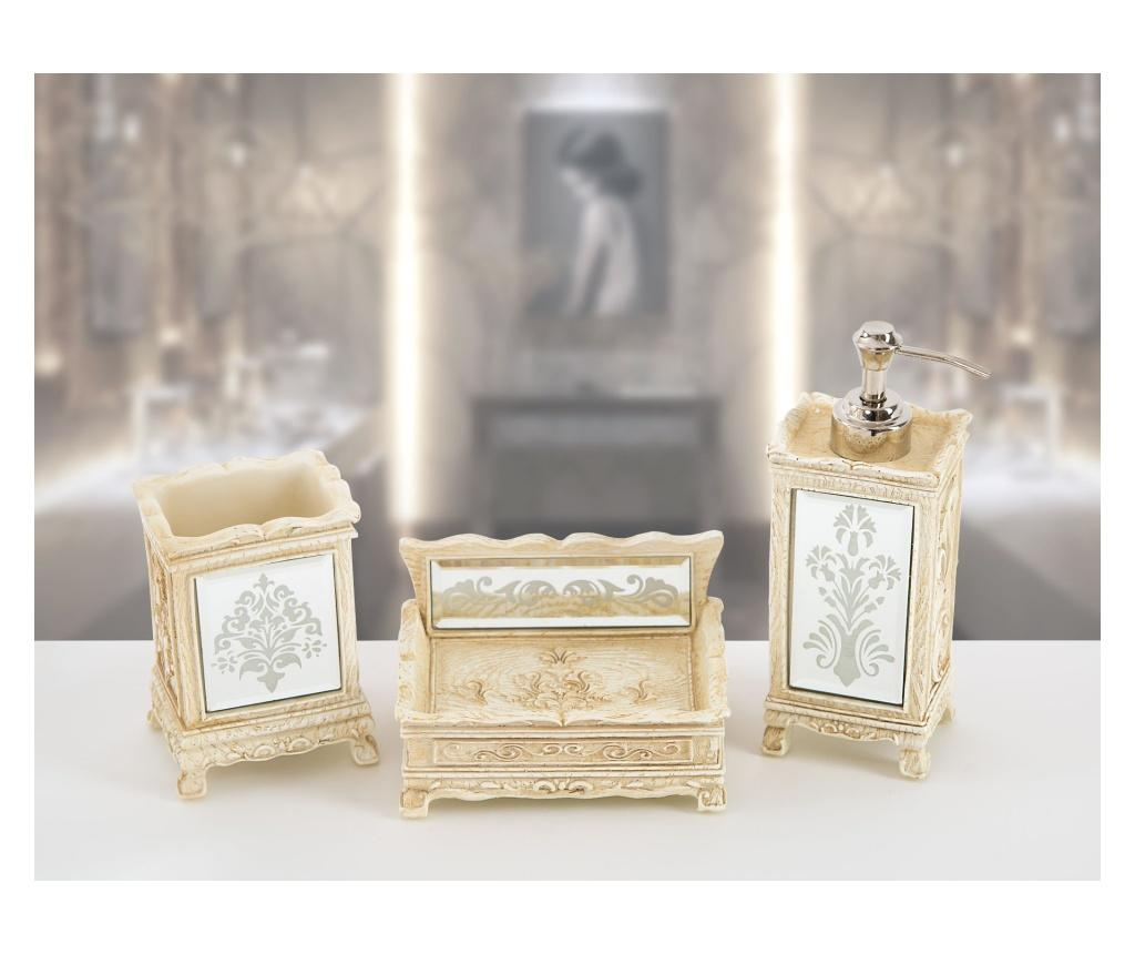 Set accesorii de baie 3 piese Hera - Irya, Crem