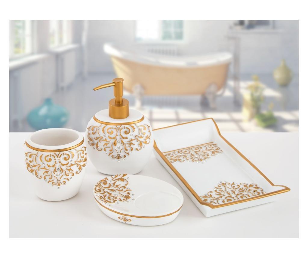 Set accesorii de baie 4 piese Flossy White - Irya, Alb