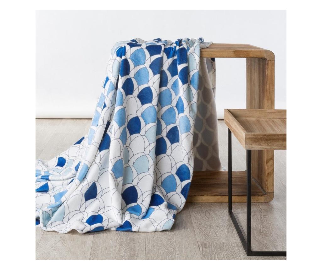 Patura Kloe Blue 200x220 cm - Eurofirany, Albastru