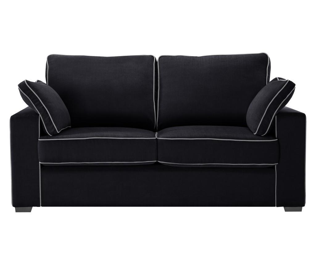 Canapea extensibila 2 locuri Serena Black