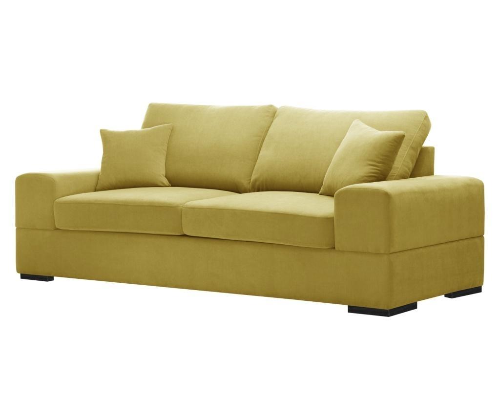 Dasha Yellow Háromszemélyes kihúzható kanapé