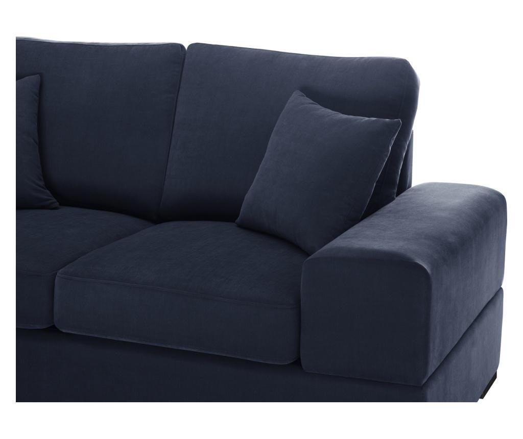 Dasha Navy Háromszemélyes kihúzható kanapé