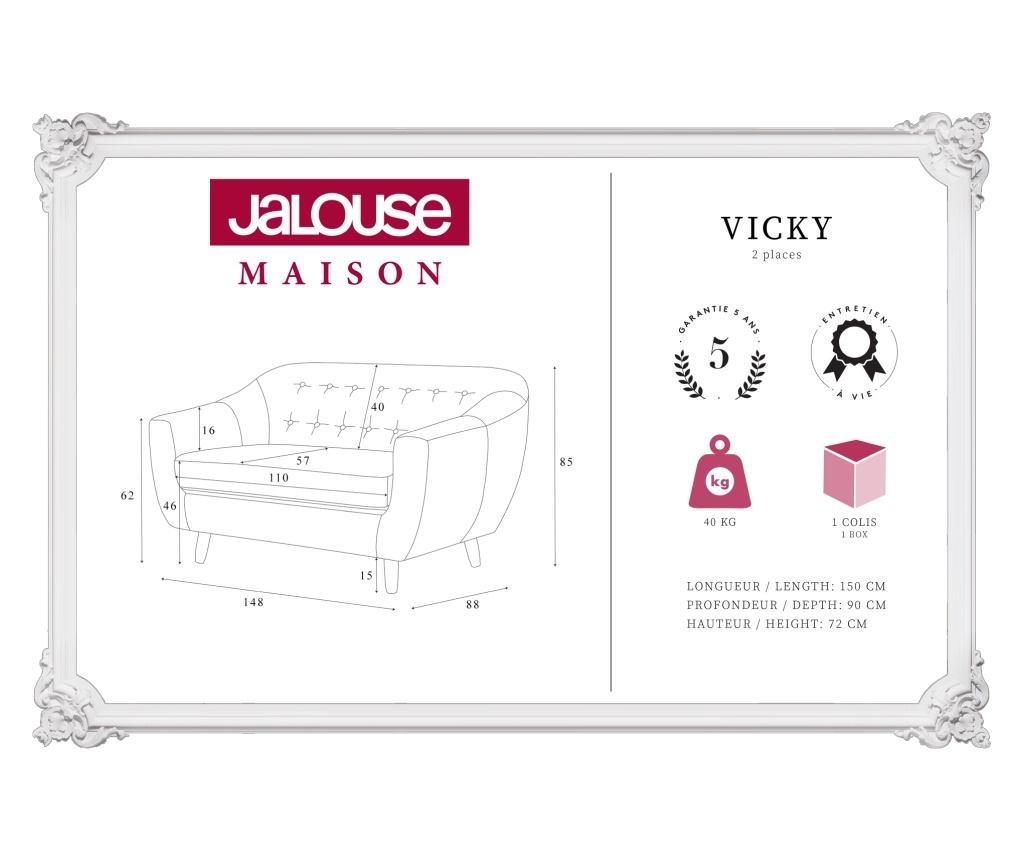 Canapea 2 locuri Vicky Black