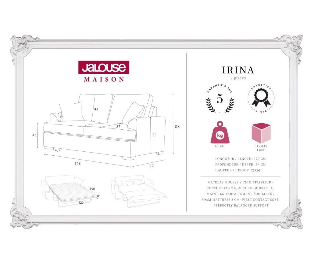 Sofa dvosjed na razvlačenje Irina Grey
