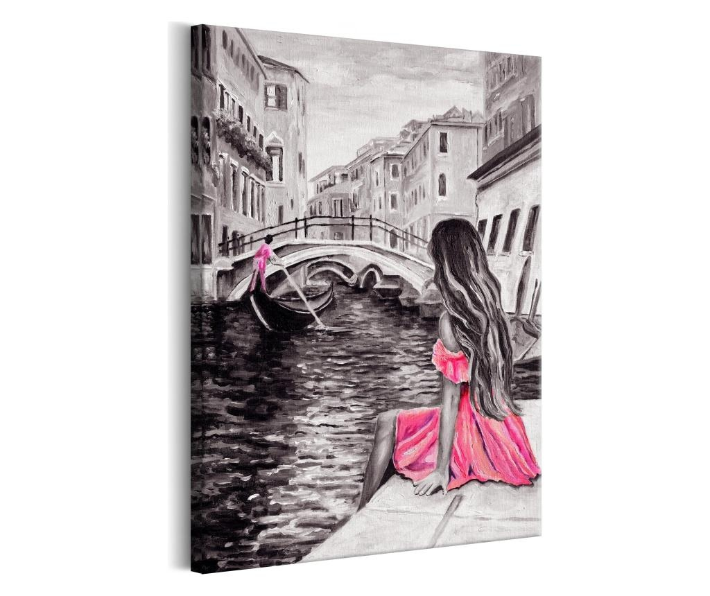 Potiskano platno Woman in Venice (1 Part) Vertical 80x120