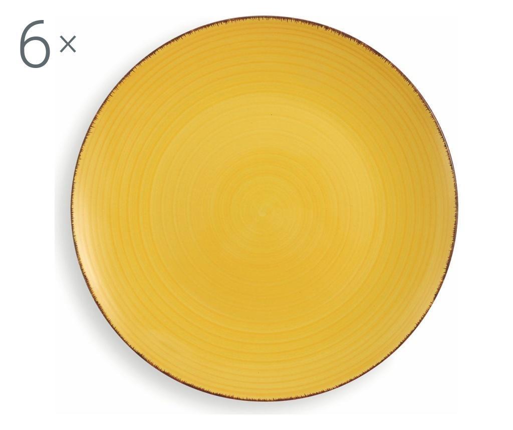 New Baita Yellow 6 db Tányér