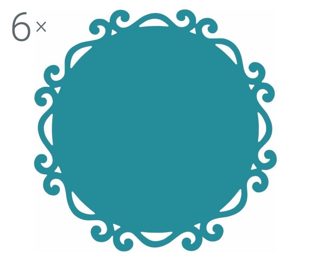 Dorian Round Blue 6 db Tányéralátét 44 cm