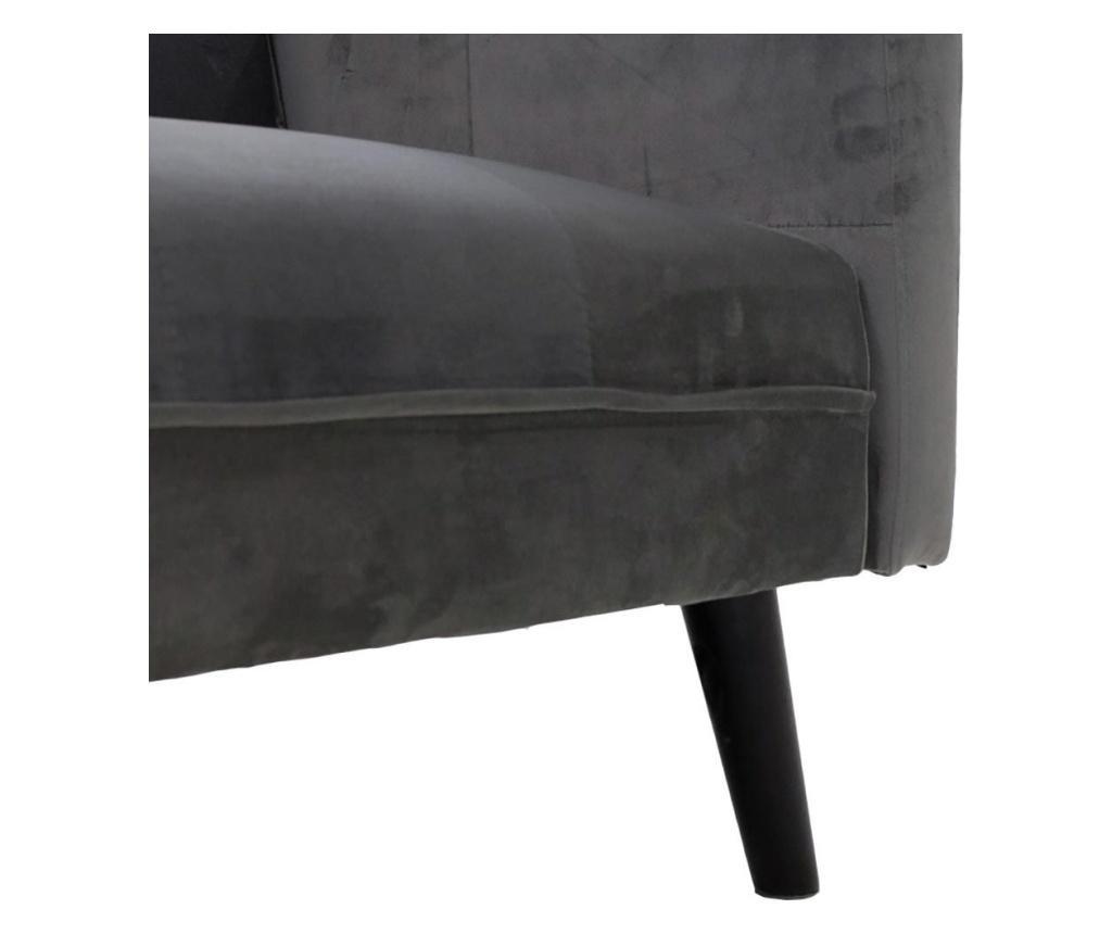 Set kauč na razvlačenje i tabure za noge Dream Grey