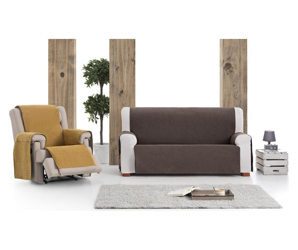Husa pentru canapea cu 2 locuri Chenille Salva Brown 120-170 cm