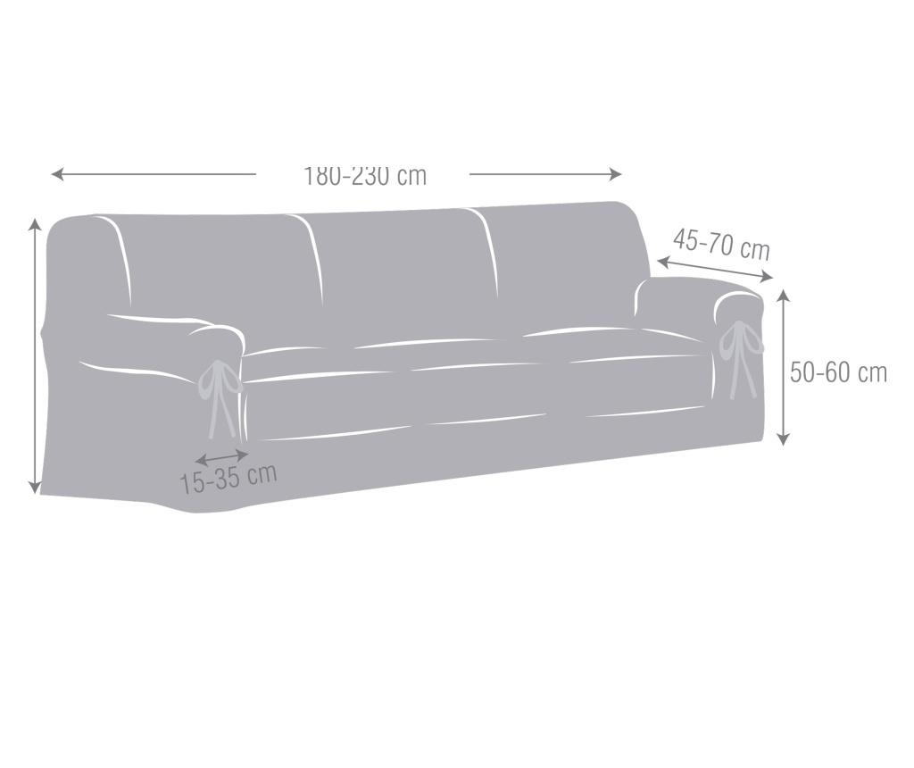 Podesiva navlaka za trosjed Chenille Ties Grey 180-230 cm