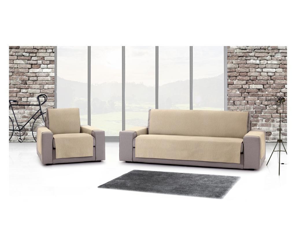 Husa pentru canapea cu 2 locuri Chenille Salva Beige 120-170 cm