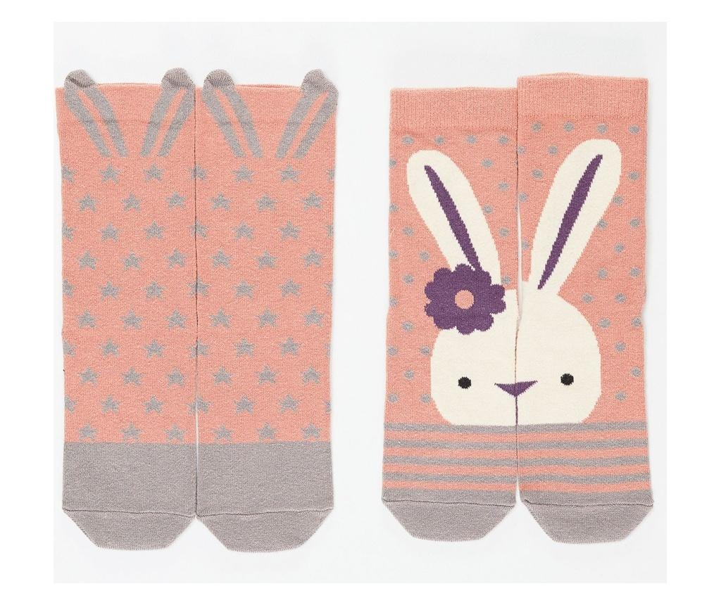 Set 2 para dječjih čarapa Bunny&Stars 2-3 years