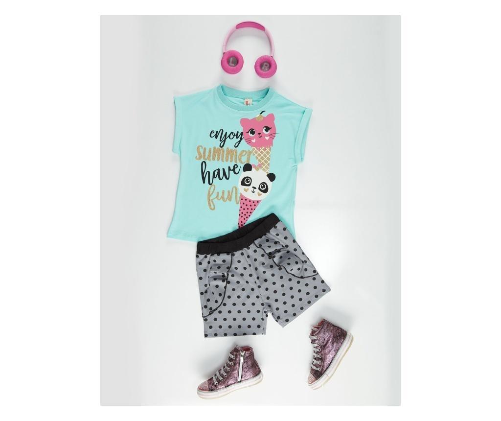 Otroški komplet - majica s kratkimi rokavi in kratke hlače Summer Fun 3 years