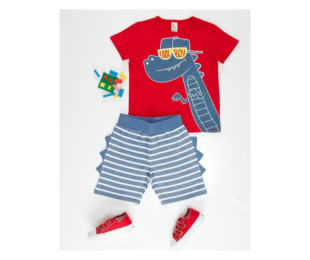 Otroški komplet - majica s kratkimi rokavi in kratke hlače Cool Dino 4 years