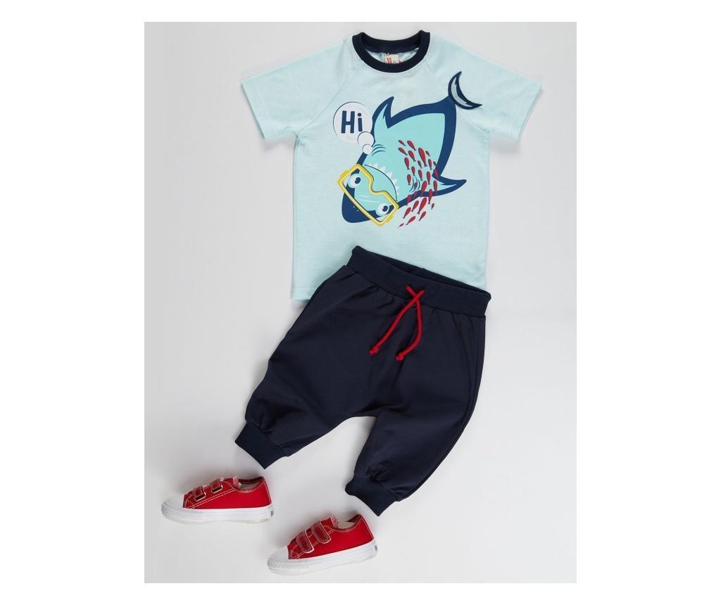 Otroški komplet - majica s kratkimi rokavi in hlače Hi Shark 7 years