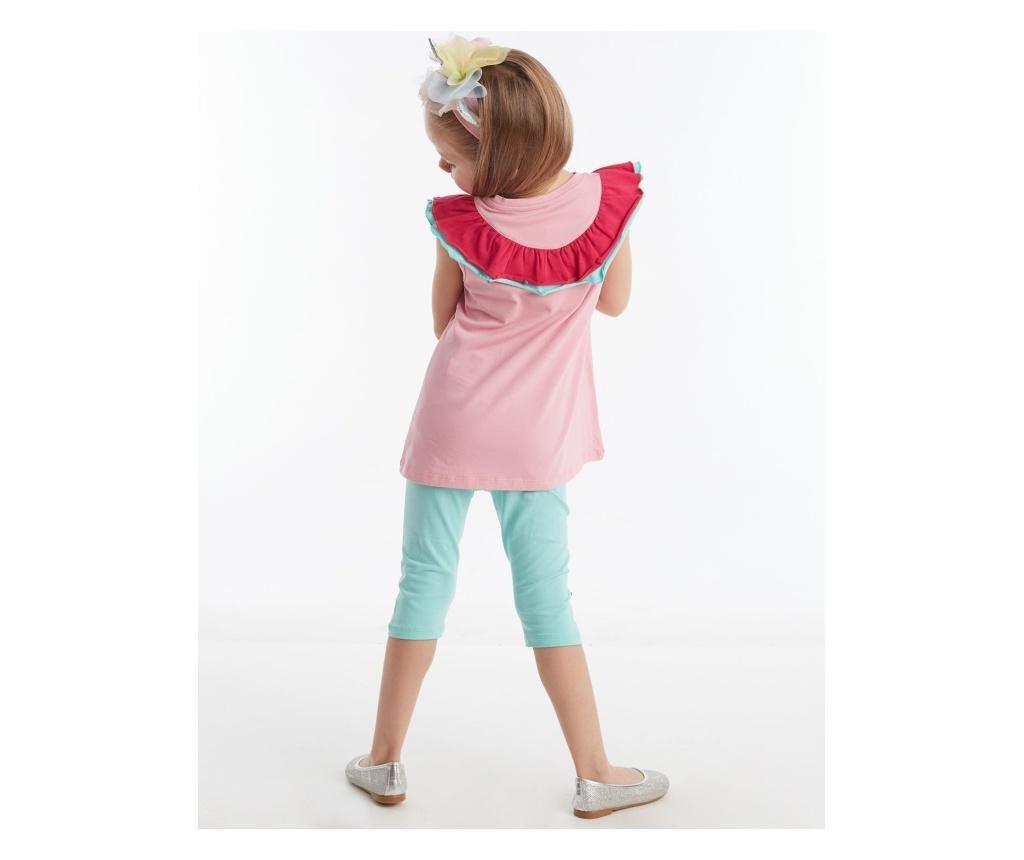 Otroški komplet - tunika in pajkice Ruffled Unicorn 5 years