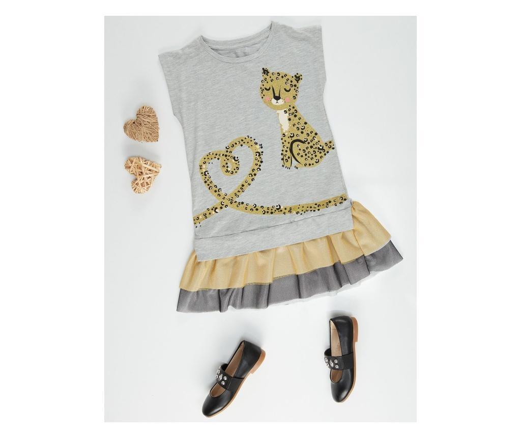 Otroška obleka Mini Leopard 4 years
