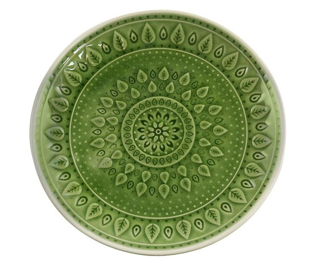 Tanjur za desert Leaf Design Green