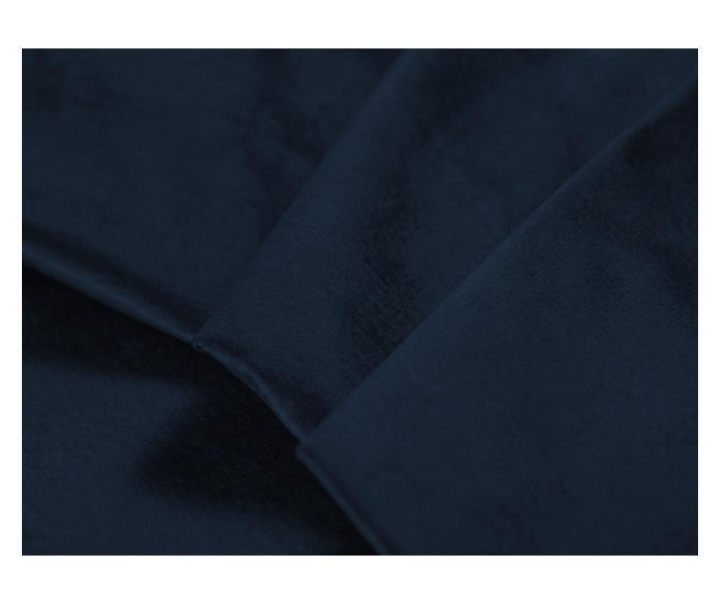 Lijeva kutna garnitura na razvlačenje Liege Velvet Dark Blue