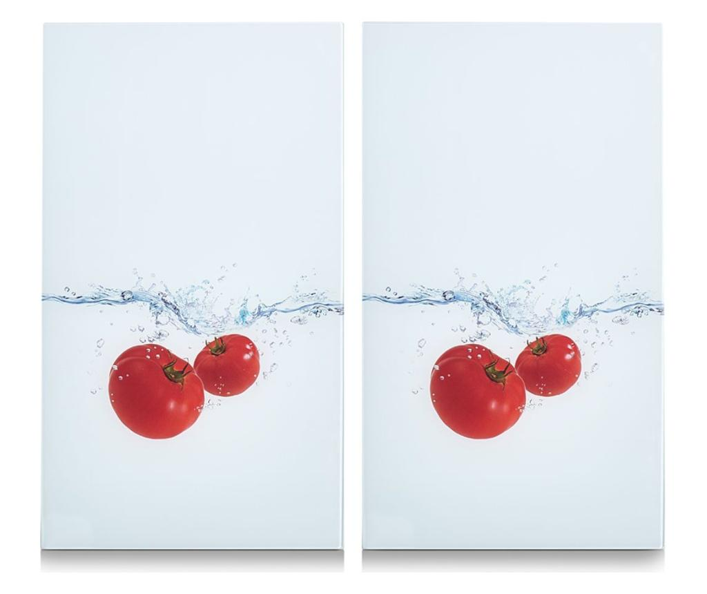 Set 2 tocatoare Tomato Splash 30x52 cm - Zeller, Multicolor
