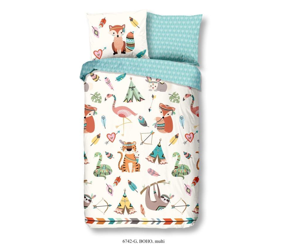 Set de pat pentru copii Single Ranforce Boho - Good Morning, Multicolor