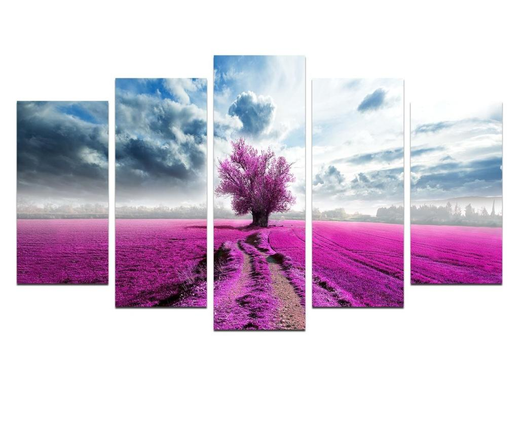 Set 5 tablouri - Melody, Multicolor