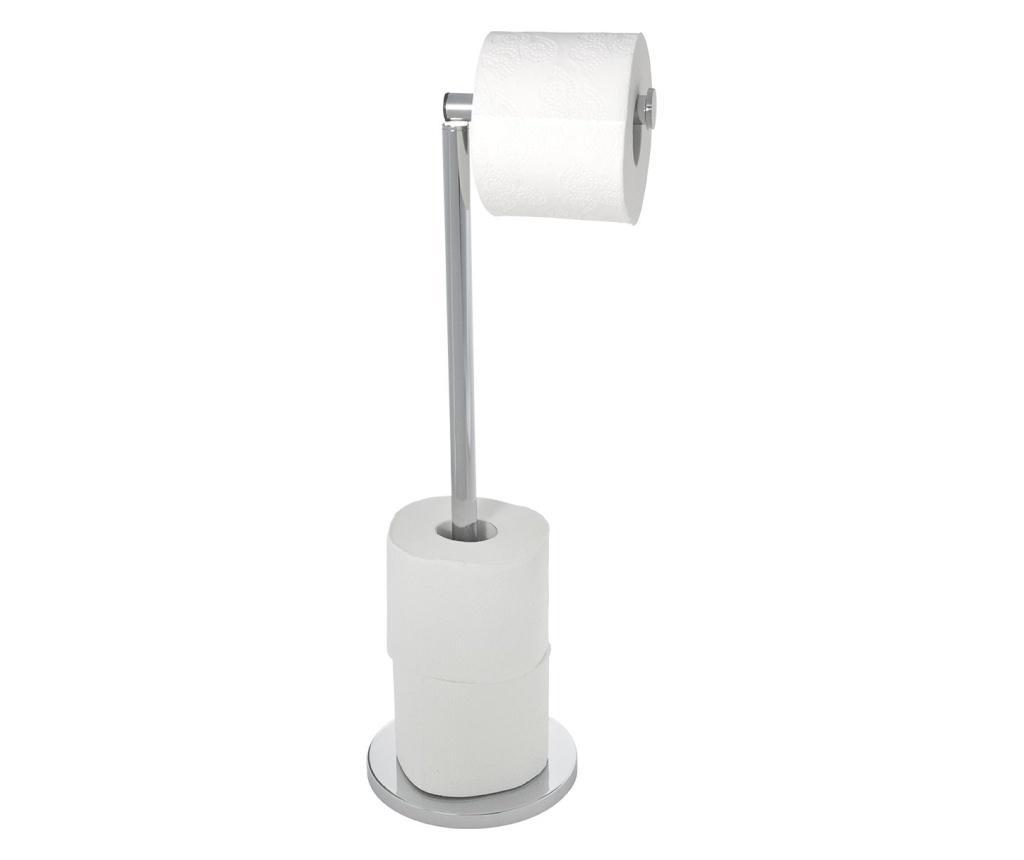 Suport pentru hartie igienica cu perie de toaleta - Wenko, Multicolor