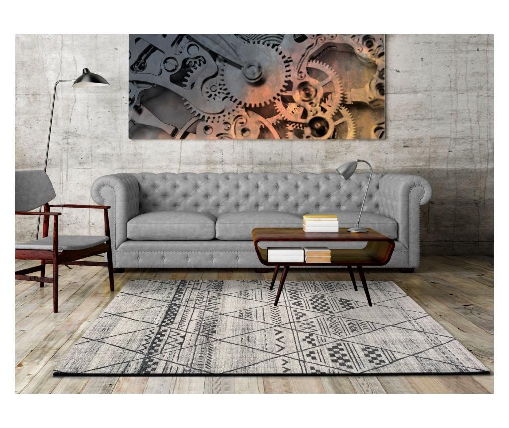 Covor Adra Grey Rustic 133x190 Cm - Universal Xxi, Gri & Argintiu