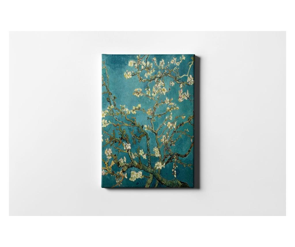 Tablou Tree And Flowers 40x60 cm - CASBERG, Multicolor