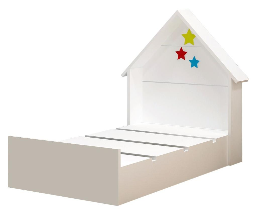 Cadru de pat Procon Montessori 60x120 cm - Gauge Concept, Alb