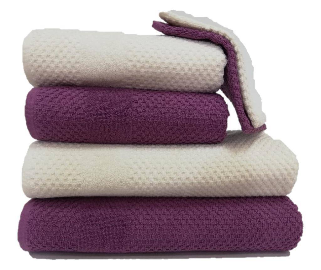 Set 6 kupaonska ručnika Jacquard Violet