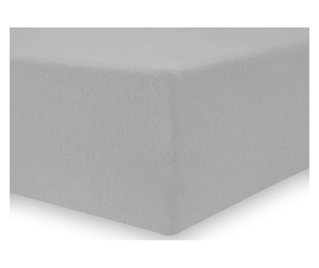 Cearsaf de pat cu elastic Amelia Silver 120x200 cm