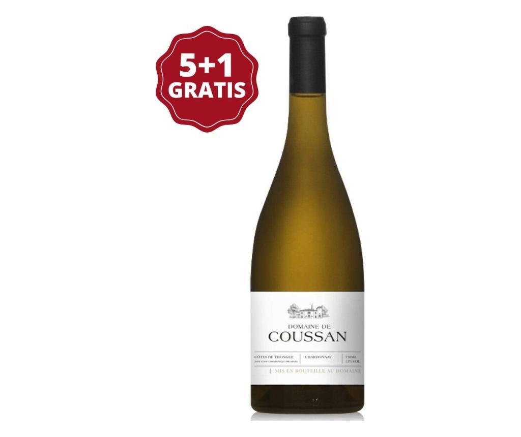 Set 6 sticle de vin alb Domaine de Coussan Chardonnay 750 ml