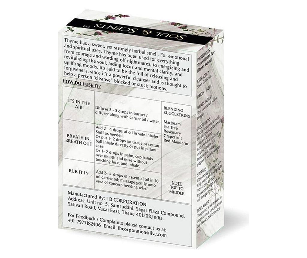 Thyme Illóolaj és csepegtető 10 ml