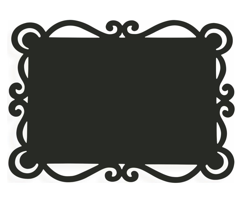 Set 6 podmetača Dorian Black 32x44 cm