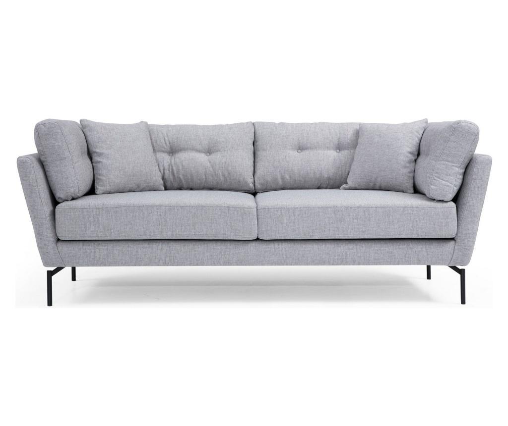 Canapea 3 locuri Mapa - Artie, Gri & Argintiu