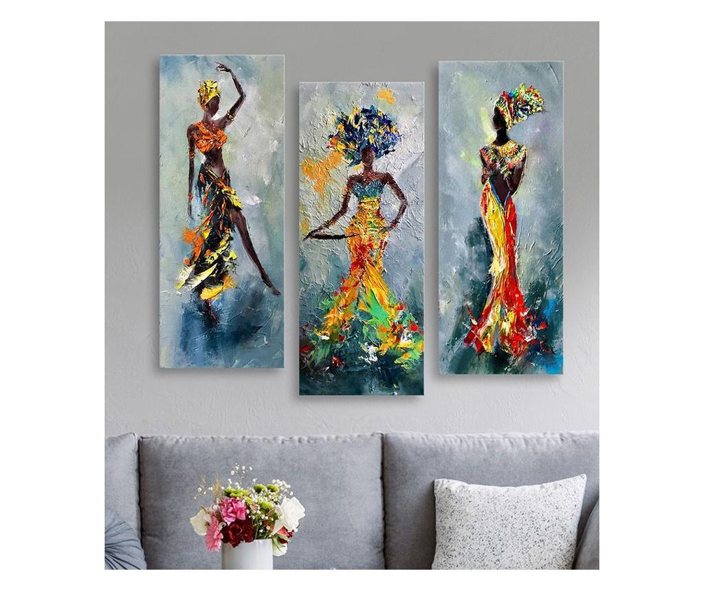 Set 3 tablouri - Dilly, Multicolor